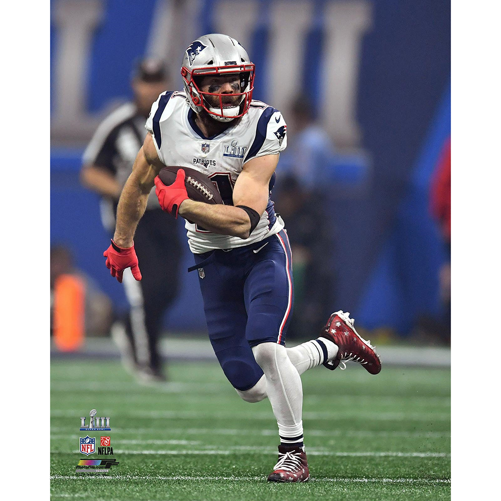 Julian Edelman Run After Catch 8x10 Carded Photo Patriots Proshop Julian Edelman Edelman Patriots Edelman