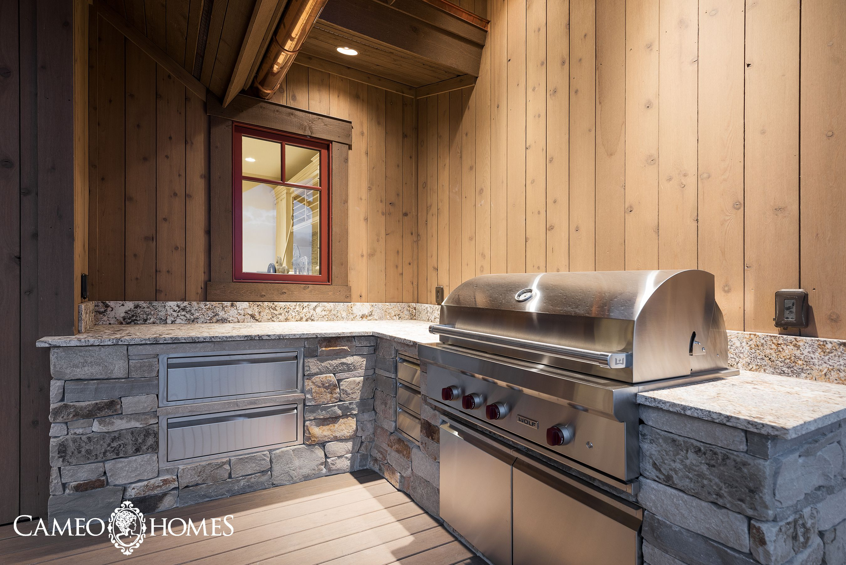 Outdoor Kitchen Featuring This Bbq And Warming Drawer From Sub Zero Wolf Outdoor Kitchen Utah Luxury Luxury Homes
