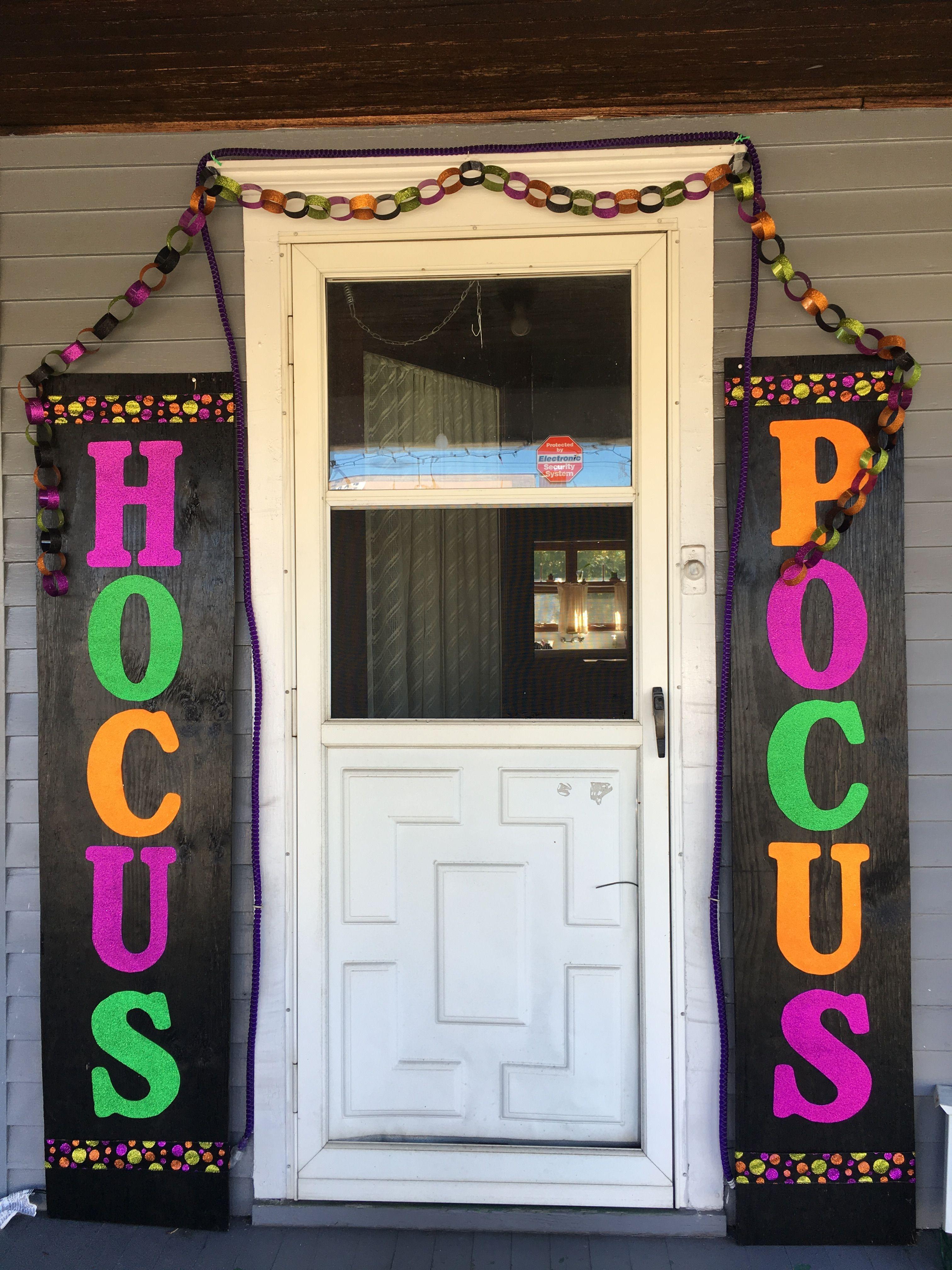 Hocus Pocus Halloween door decor Hallowe\u0027en Pinterest Hocus pocus - pinterest halloween door decor