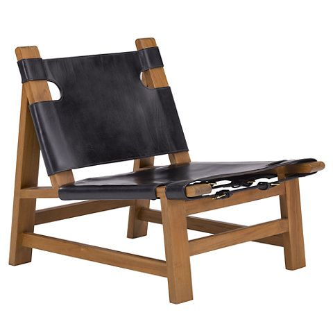 Lovely Sonora Canyon Sling Chair In Black Leather   Chairs / Ottomans   Furniture    Products