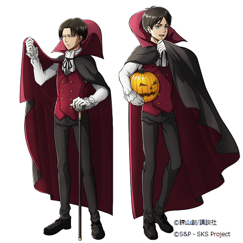 A Bit Of Bishonen Halloween From Attack On Titan And Free Attack On Titan Attack On Titan Eren Attack On Titan Levi