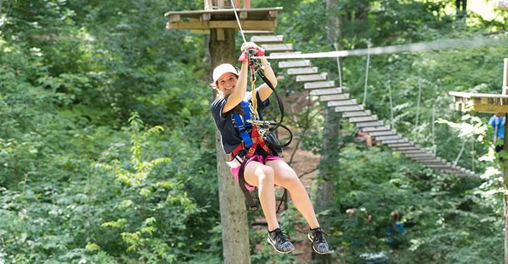 Zip Lining In Finger Lakes