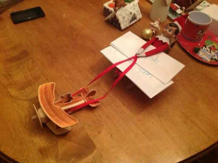 Our elf snowflake returned from the north pole in a sleigh attached our elf snowflake returned from the north pole in a sleigh attached to an airplane letter from santathe spiritdancerdesigns Choice Image