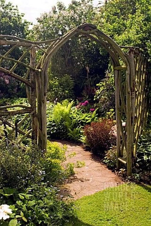 46 Stunning Rustic Garden Gates Ideas In 2020 Garden Arch