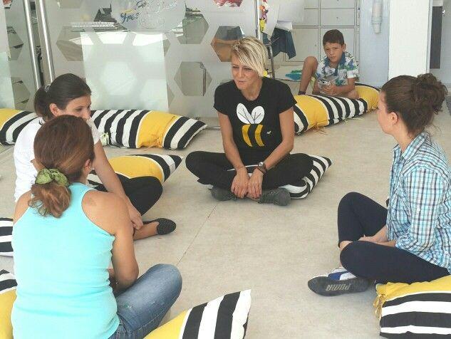 Moms session at the workshop