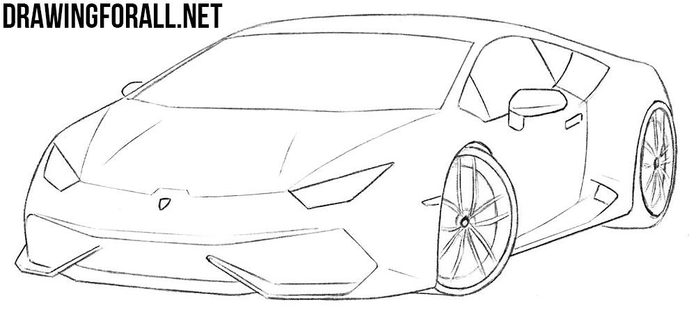 How To Draw A Sports Car Step By Step Car Drawing Easy Car