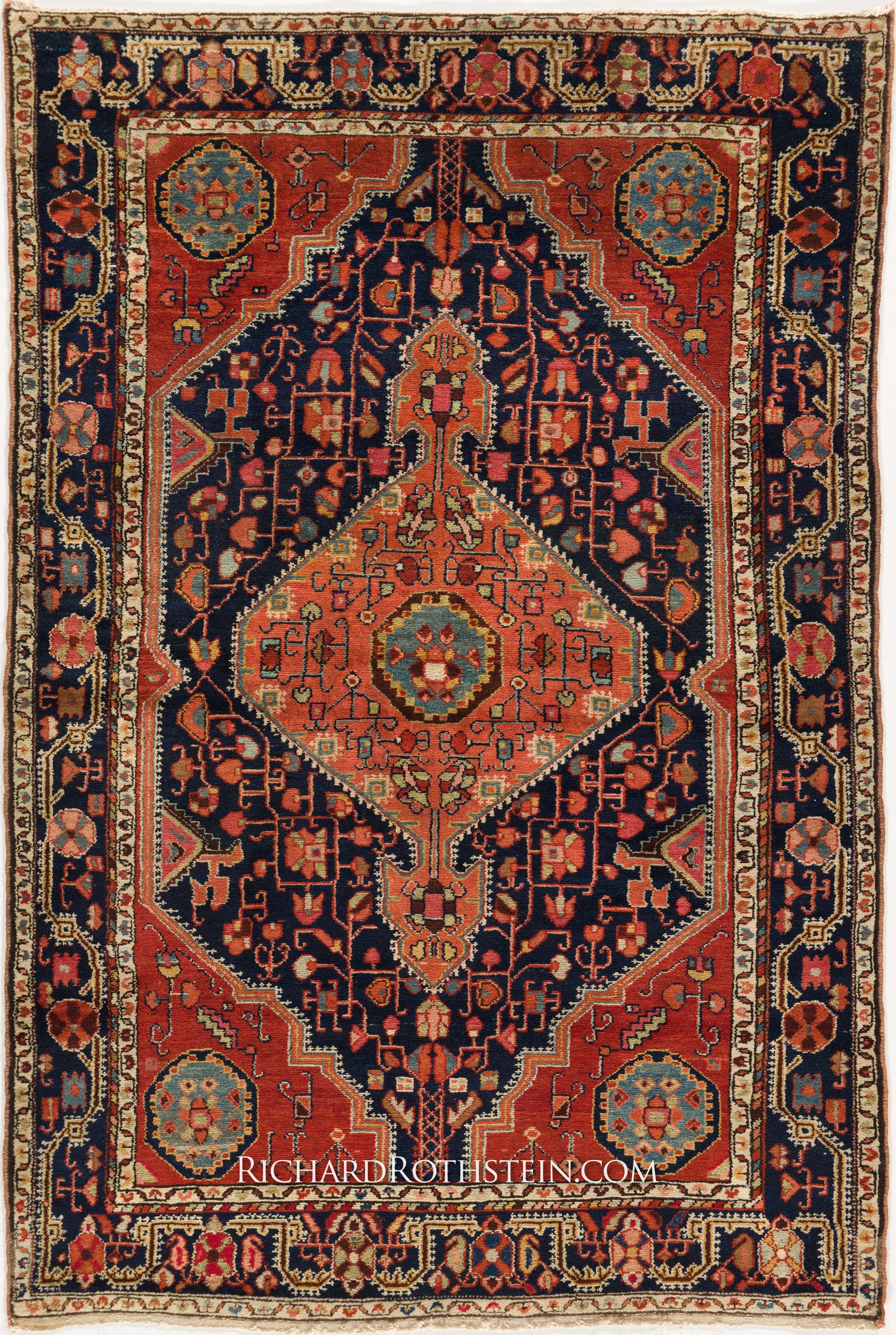 Antique Malayer Oriental Rug C55012