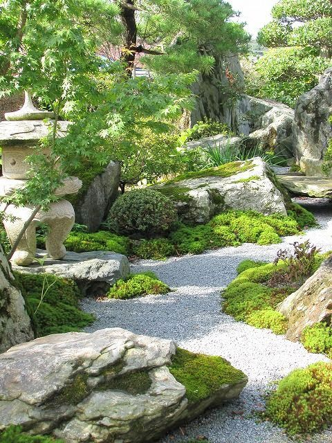 An Karesansui Or Anese Rock Garden Is Also Called Dry Landscape Zen
