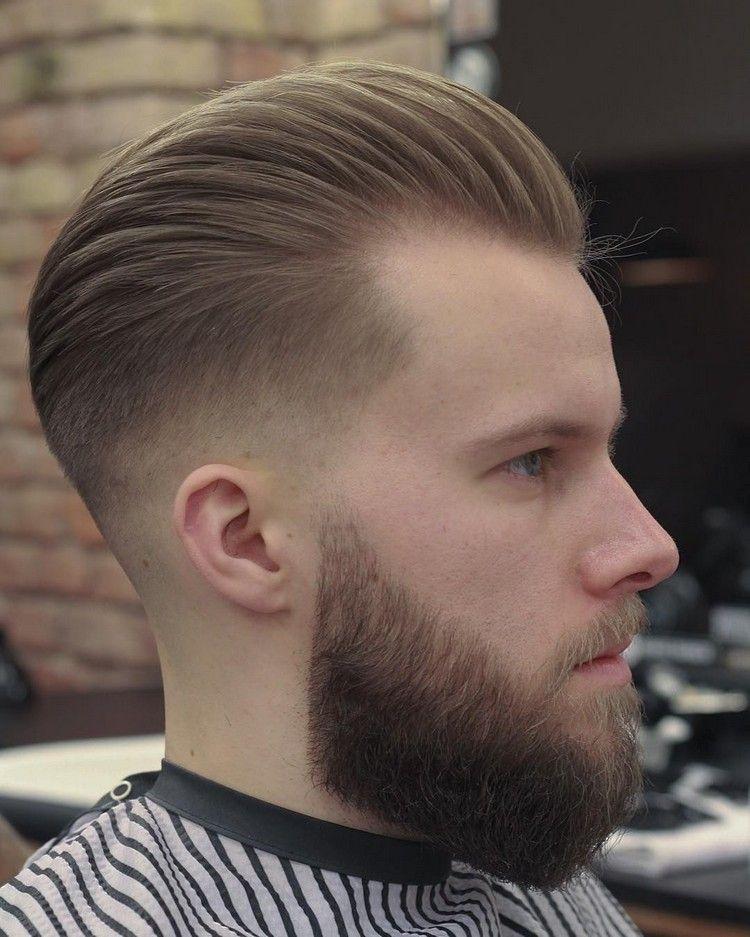 Moderne Männerfrisuren Mit übergang Nach Hinten Gestylt Hairstyles