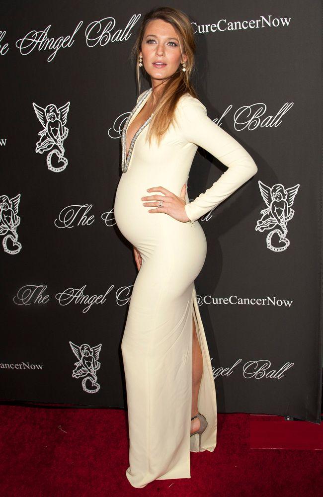 Look pregnant