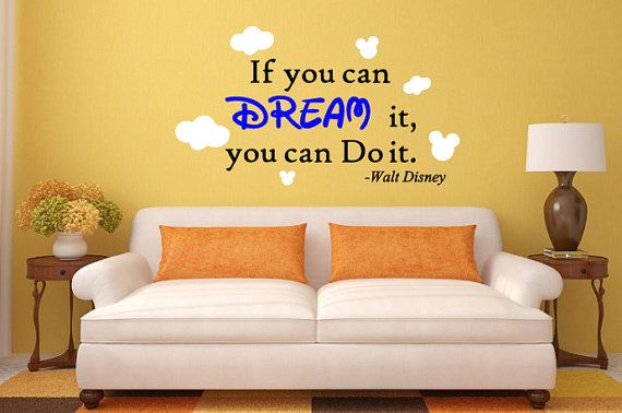 Dream Quote (Walt Disney) Wall Decal   Disney wall decals, Dreaming ...