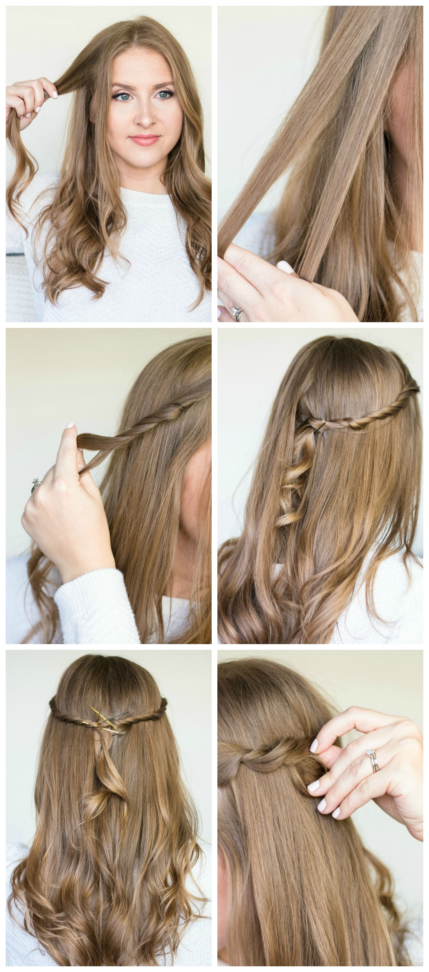 twisted-half-up-hair-style-tutorial-pantene  Easy hairstyles