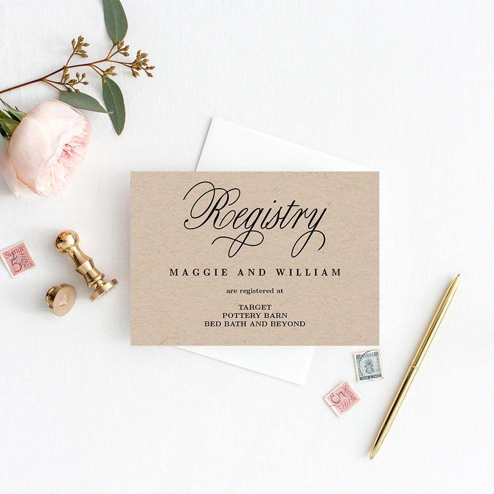 Free Wedding Registry Card Template Registry Cards Editable Template Printable Pdf Elegant Wedding Registry Cards Registry Cards Wedding Cards Free wedding registry card template