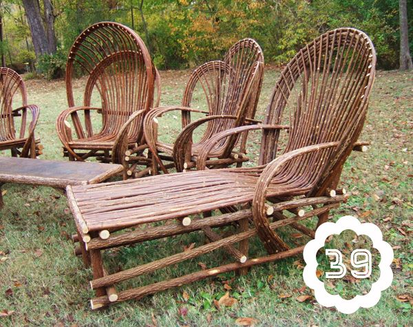 50 Ways To Upcycle Tree Branches And Logs Living Vintage Willow Furniture Twig Furniture Branch Furniture