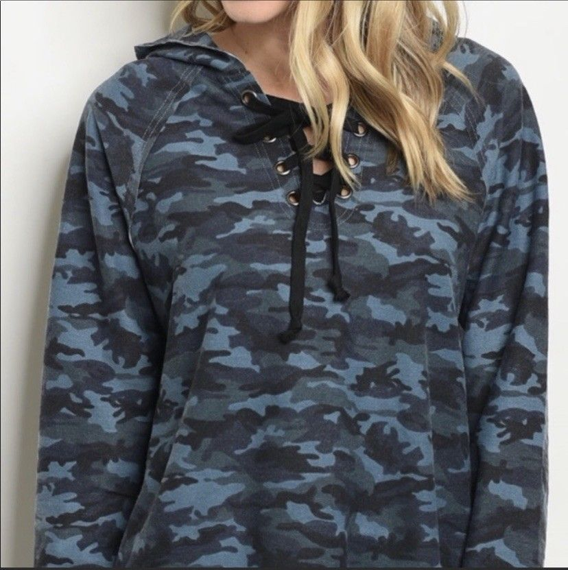 Ladies Camo Hoodie #fashion #clothing #shoes #accessories