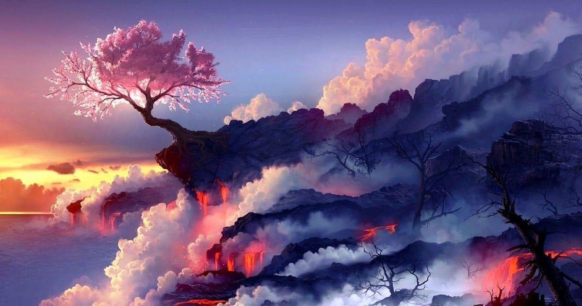 27 Wallpaper Anime Scenery Hd Anime Scenery Ultrahd Background Wallpaper For 4k Uhd Tv 169 4k 8k In 2020 Anime Scenery Wallpaper Scenery Wallpaper Fantasy Landscape
