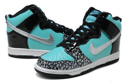 check out e5f99 fc43c High Tops For Girls   SB Dunk Girls Nike High Tops Shoes Tiffany Custom  Black Metallic .