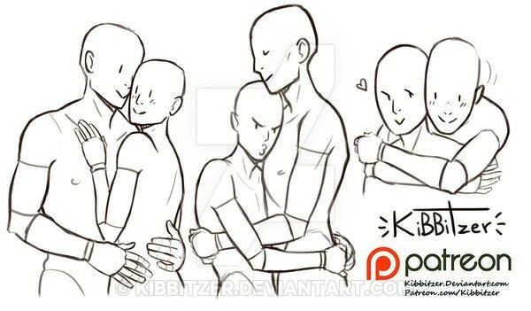 Tutorial Cuddles By Kibbitzer Drawing Reference Art Reference Poses Pose Reference