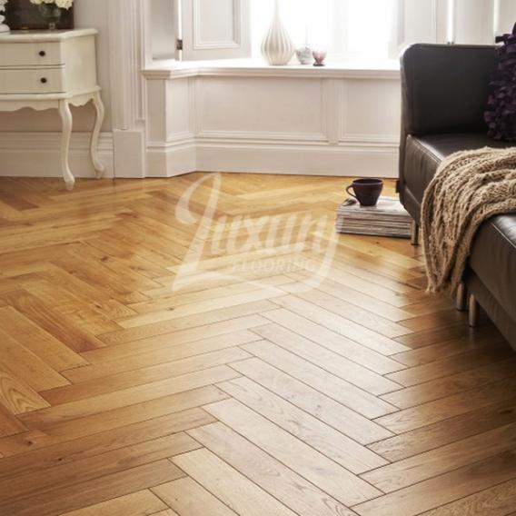 Richmond Engineered Herringbone Click Parquet Oak X Brushed And Oiled Wood  Flooring