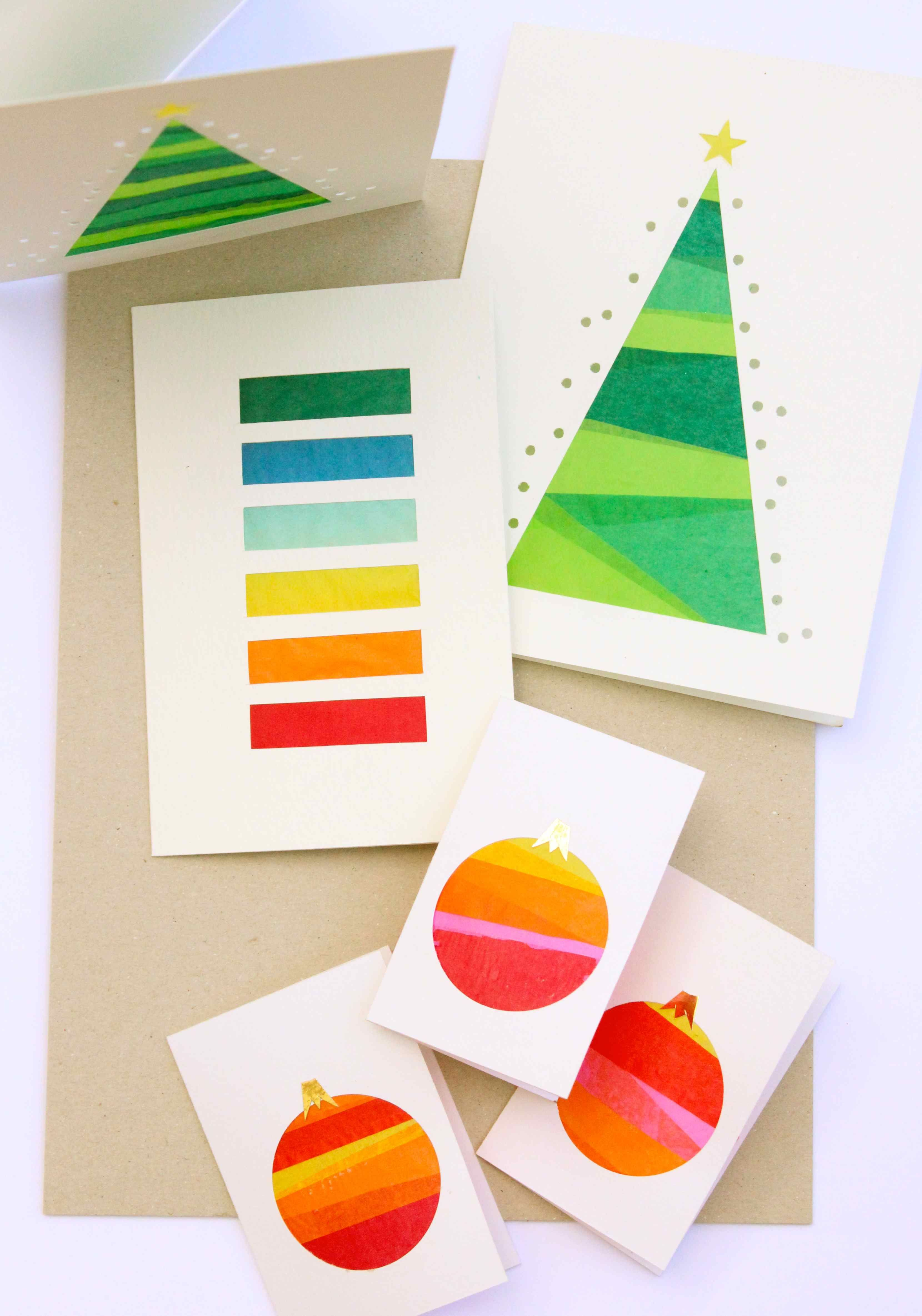 DIY Stained Glass tissue paper cards Paper cards