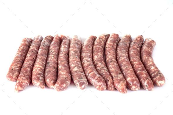 pork sausages in studio by cynoclub. pork sausage in front of white background #Sponsored #studio, #cynoclub, #pork, #sausages