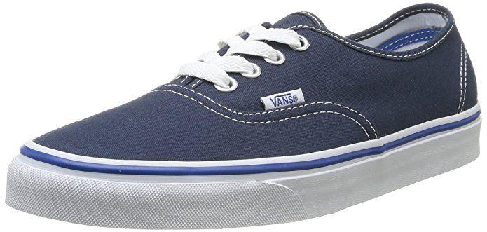 Vans U Authentic – Baskets Mode Mixte Adulte, Bleu (Dress Blues/Nautical  Blue), 47. VANS Unisex Authentic Solid Canvas Skateboard Sneakers ...