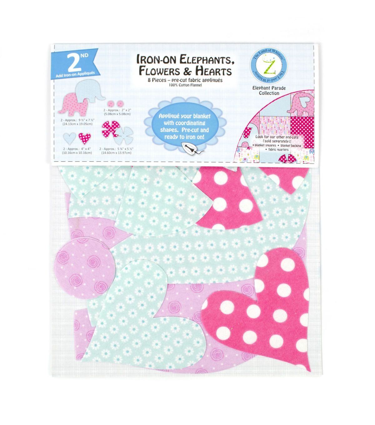 Land of Whimzie Elephant Parade Flannel IronOn Appliques