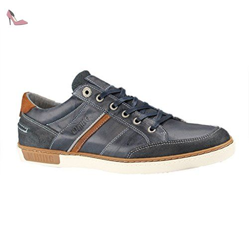 Mustang Herren Canvas Sneaker Blau, Schuhgröße:EUR 50