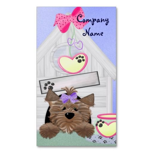 Dog business card business cards business and dog dog business card reheart Choice Image