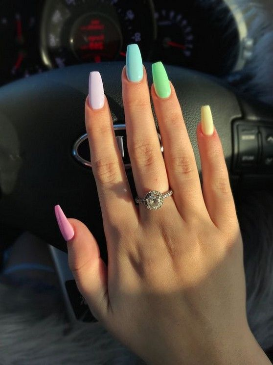 82 Best Cutest Acrylic Nails Ideas For This Summer 2019 Page 59 Of 82 Diaror Diary Ombre Acrylic Nails Acrylic Nails Coffin Short Fake Nails