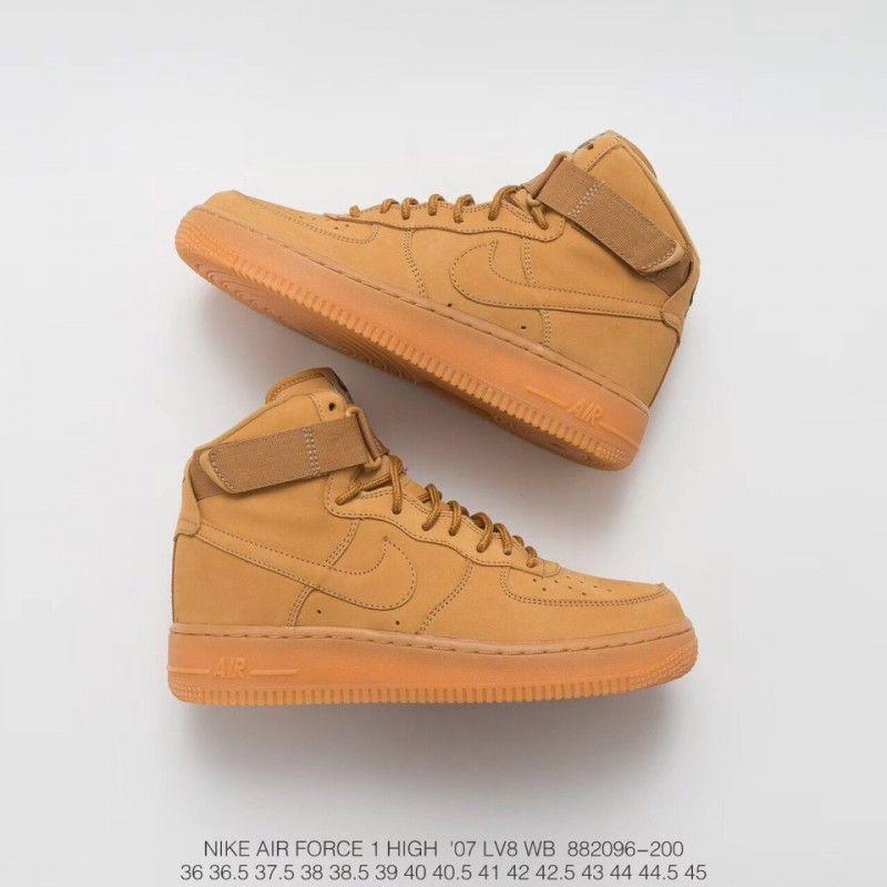 Rhubarb Boots Force Wheat Nike Suede High 096 200 Air UVpMGqSz