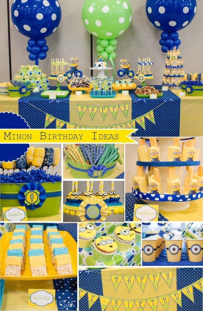 Minion Birthday Party printables by Swish Printables party Ideas