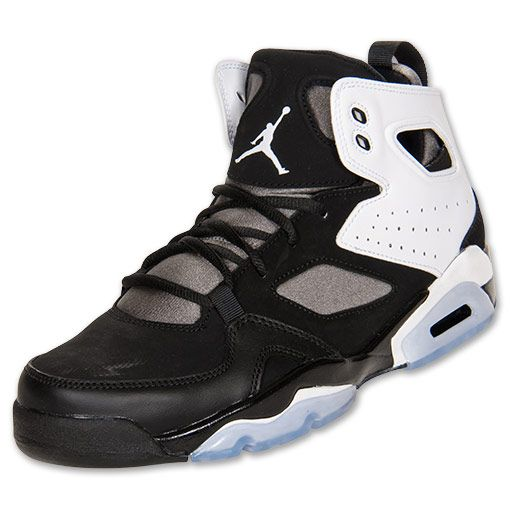 051d1620d5b Men's Jordan Flight Club 91 Basketball Shoes | FinishLine.com | Black/White/Flat  Pewter