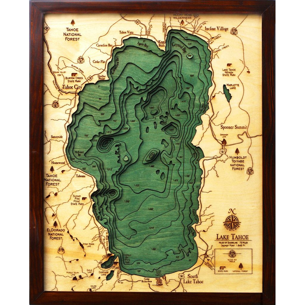 Lake Tahoe Sites Pinterest Map Map Art And Cartography