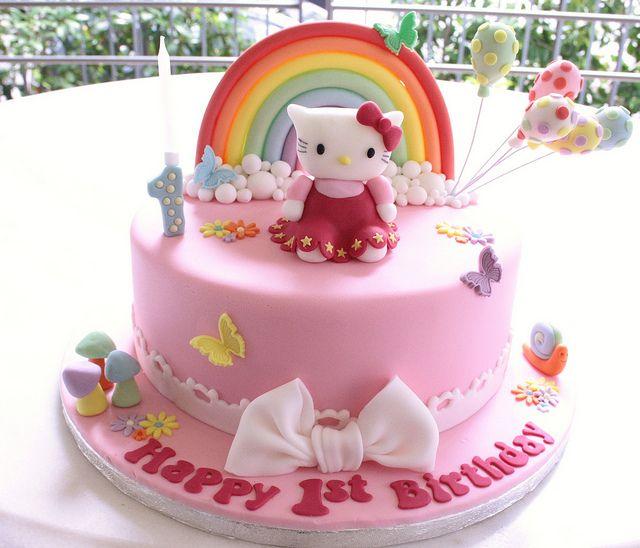 Hello Kitty Rainbow Cake Hello Kitty Birthday Cake Hello Kitty