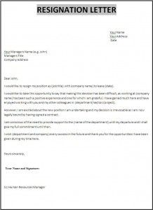 Resignation Letter Template New Az Templates