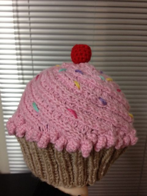 Ravelry Awesome Cupcake Hat Pattern By Sharon Horne Great Use Of