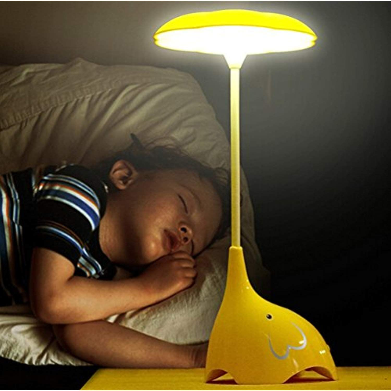 Womhope Cute Elephant Children S Night Lights Flexible Angles Desk Lamp Design Button Touch Sensor Co Night Light Kids Childrens Night Light Baby Night Light