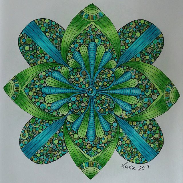 Creative Coloring Mandalas, Valentina Harper. I used Faber Castell ...