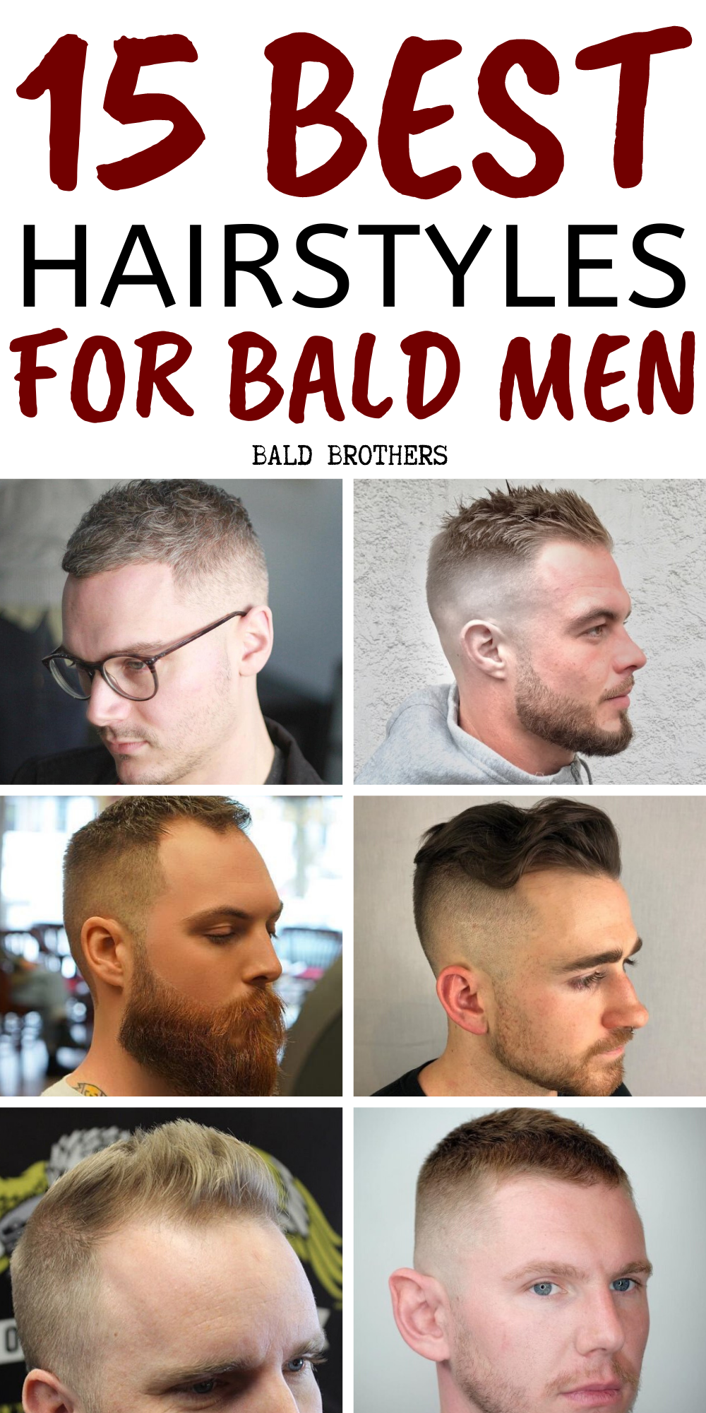 15 Of The Best Hairstyles For Balding Men The Bald Brothers Balding Mens Hairstyles Haircuts For Balding Men Thin Hair Men
