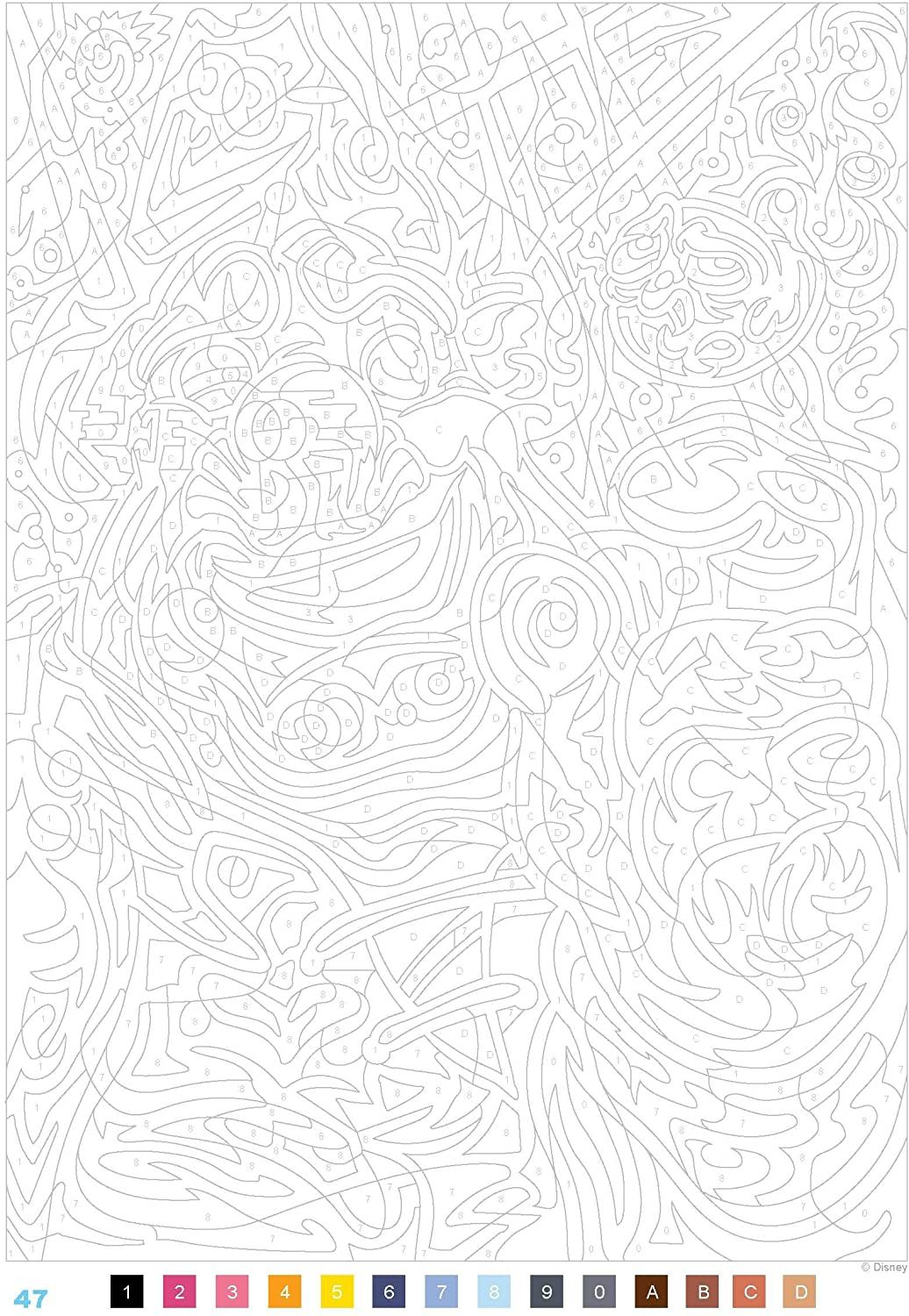 Coloriage Mystere Disney Tome 4 : coloriage, mystere, disney, Color, Number