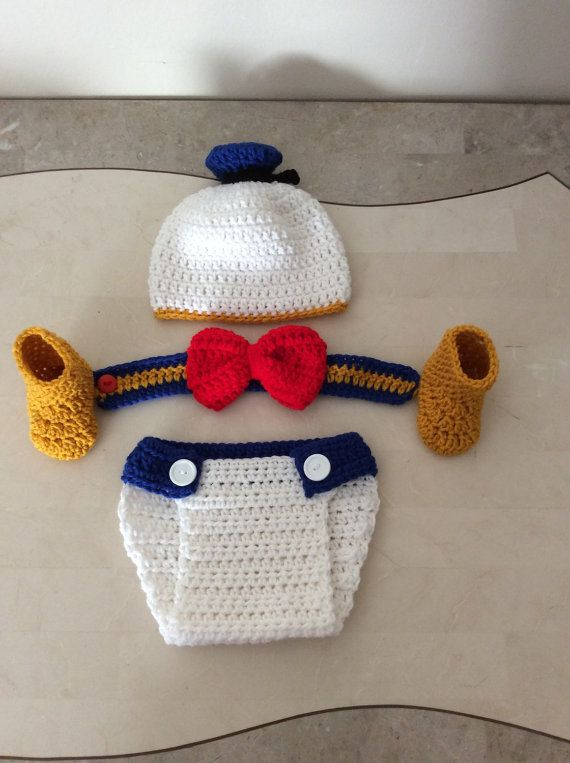 Crochet Donald Duck Outfit By Craftyanascreations On Etsy Hendrik