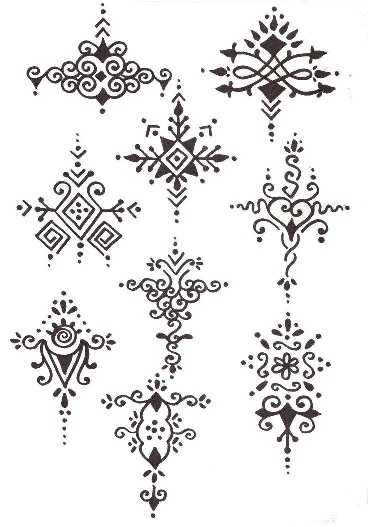Bonitos diseños de tatuajes de henna … | Tattoos/ideas | Pinterest ...