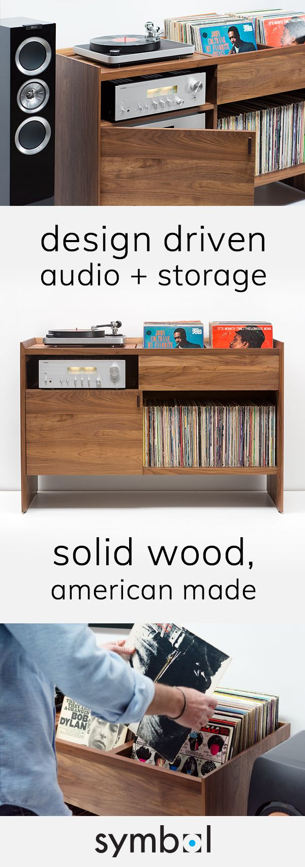 Unison Record Stand All In One Vinyl Record Storage