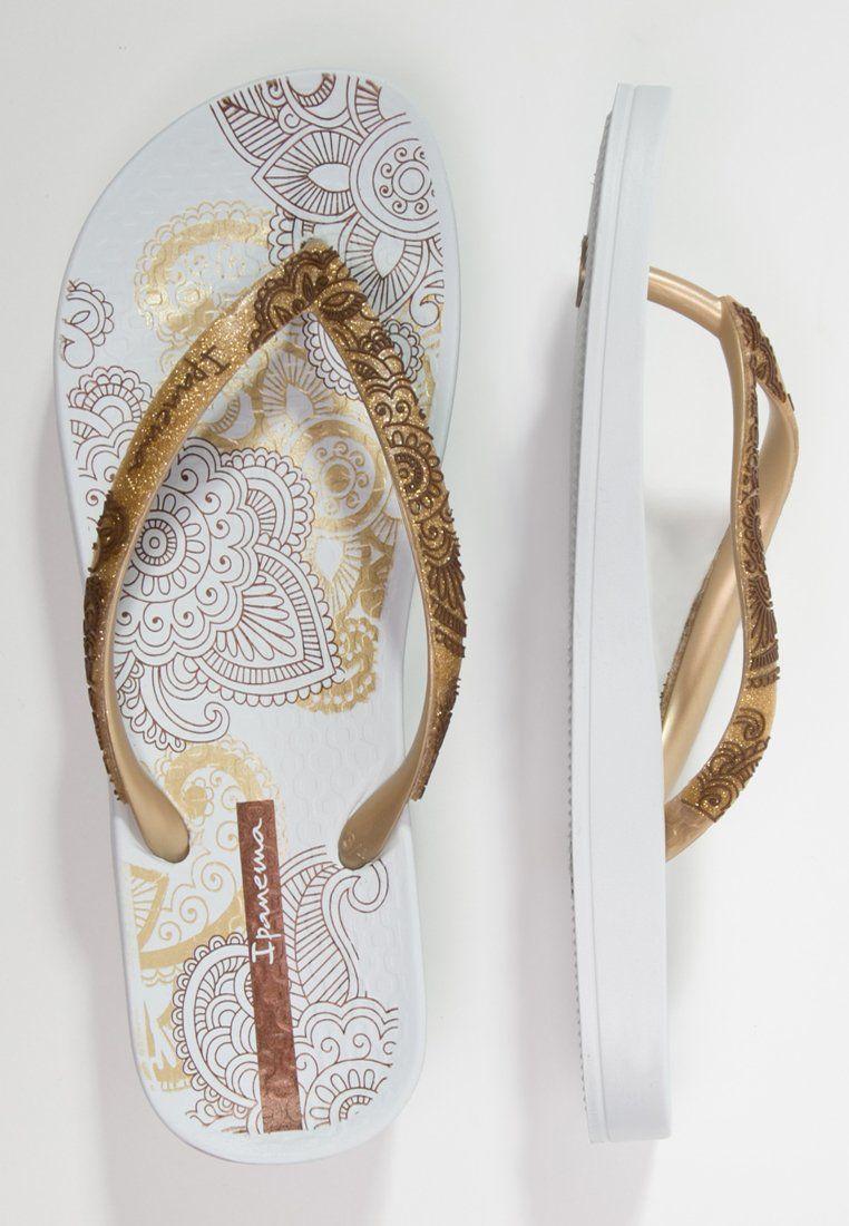 hier online online winkel uitstekende kwaliteit Ipanema - LOVELY - Bade-Zehentrenner - white/gold | Shoes ...
