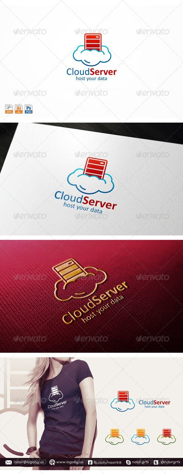 Cloud Server (With images) Logo design template