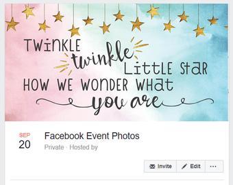 Twinkle Twinkle Gender Reveal Facebook Cover Photo By Tiffiney Ink Twinkle Twin Twinkle Twinkle Gender Reveal Gender Reveal Invitations Gender Reveal Banner