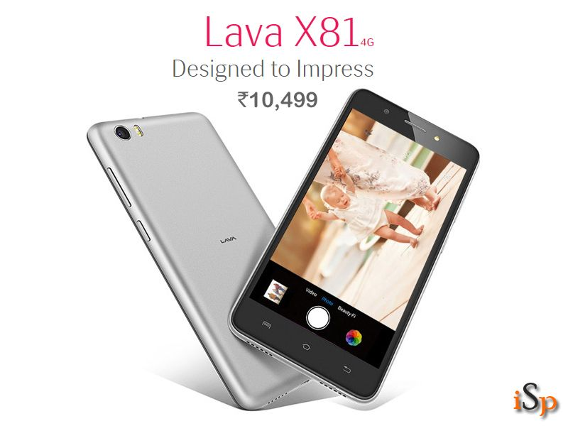 Lava X81 4G with Android Marshmallow, 3GB RAM available at Rs 10,499 @ http://www.ispyprice.com/mobiles/6477-lava-x81-price-list-india/