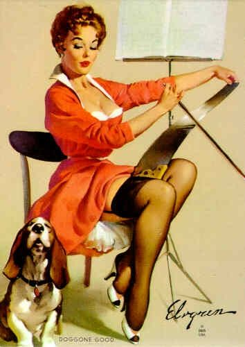 Pin-up Paintings by Gil Elvgren | Gil elvgren, Earl moran and ...