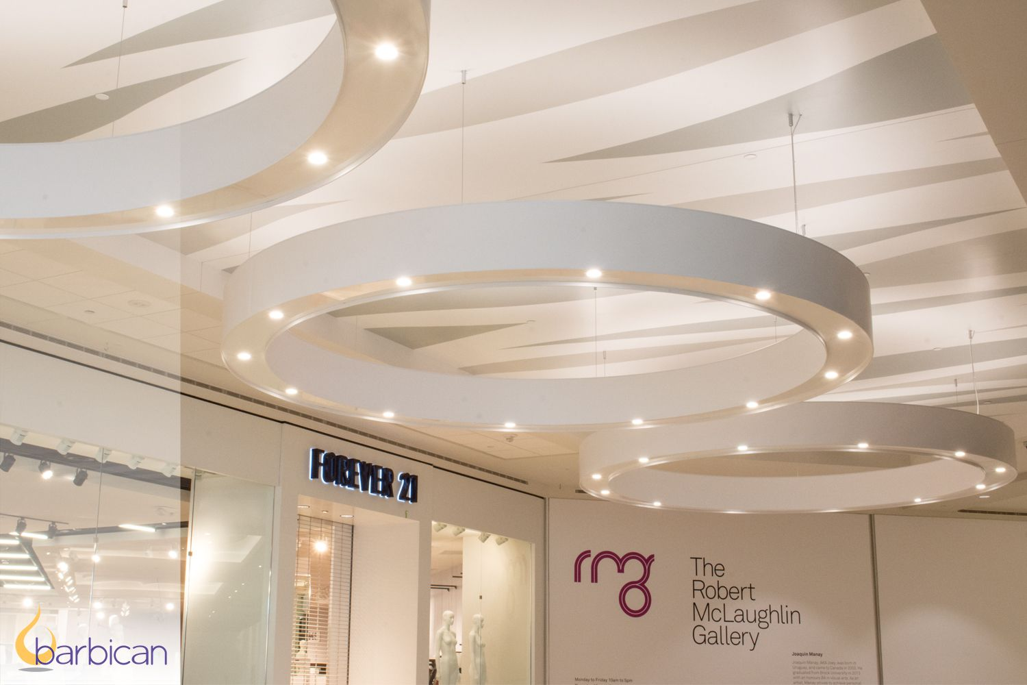 Installation custom led pendants by barbican oshawa centre oshawa on decorative lighting